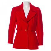 Chanel Red Wool Jacket for Women Vintage