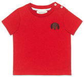 Gucci Short-Sleeve Dog Jersey Tee, Flame/Black, Size 6-36 Months