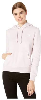 Converse Embroidered Fleece Pullover Hoodie (Barely Rose) Women's Clothing