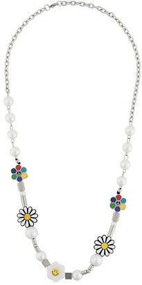 Salute Academy beaded charm necklace