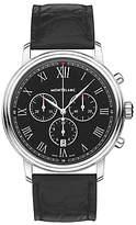 Montblanc 117047 Tradition Chronograph Alligator Leather Strap Watch, Black