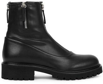 Giuseppe Zanotti Combat black leather ankle boots