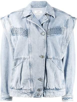 Etoile Isabel Marant off-centre buttoned denim jacket