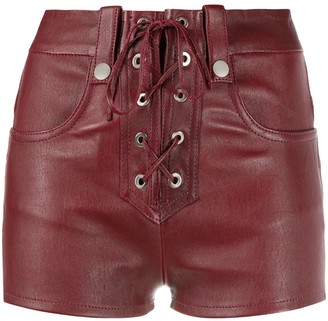 Manokhi Alys leather shorts
