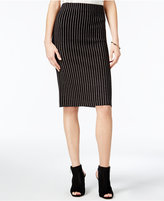 Bar III Striped Sweater Pencil Skirt, Only at Macy's