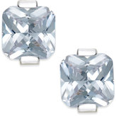 INC International Concepts Silver-Tone Square Crystal Stud Earrings, Only at Macy's