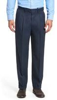 Nordstrom Classic Smartcare TM Supima ® Cotton Pleated Trousers (Regular, Big & Tall)