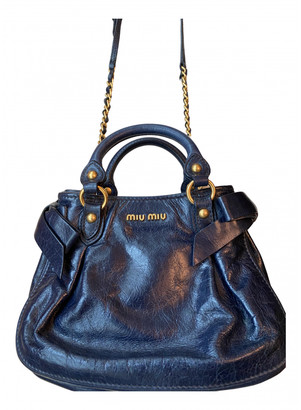 Miu Miu Bow bag Blue Leather Handbags