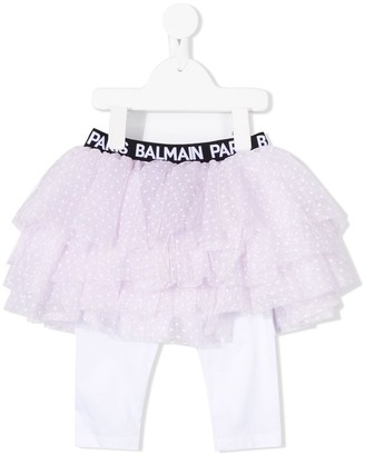 Balmain Kids All-In-One Tutu Leggings