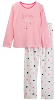 Jessica Simpson Long Sleeve Top & Bottom Pajama Set (Big Girls)