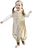 Happy Cherry Little Kids Toddler Boys Girls Flannel Jumpsuit Warm Sleepwear Sleepbag