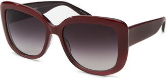 Barton Perreira Choupette Oversized Square Acetate Sunglasses, Wine