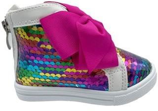 Nickelodeon Jojo Siwa Rainbow Reverse Sequins High-Top Sneakers (Toddler Girls)