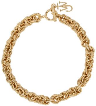J.W.Anderson Gold Pendant Curb Choker