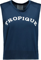Zoe Karssen Tropique flocked cotton top