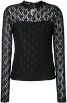 GUILD PRIME lace insert blouse - women - Nylon/Polyester - 34