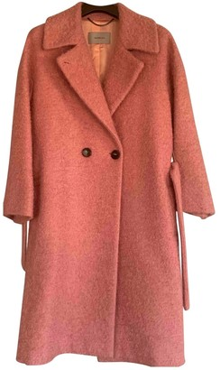 Marella Pink Wool Coat for Women