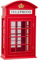 Design Toscano BN5230 Piccadilly Circus British Telephone Booth Wall Curio Cabinet