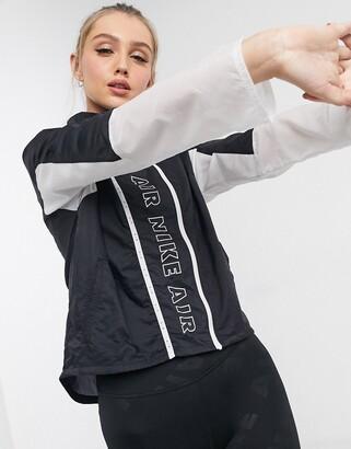 Nike Running Air zip up jacket in black