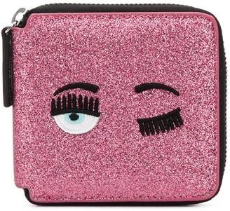 Chiara Ferragni Flirting embroidery glitter wallet