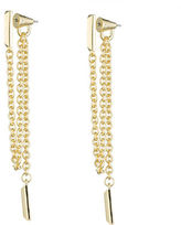 Eddie Borgo Draped Chain Bar Earrings