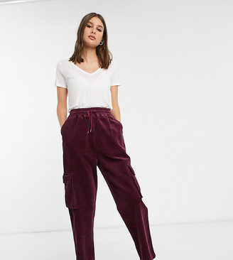Asos DESIGN Tall cord pull on combat pant