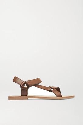 ST. AGNI Sportsu Leather Sandals - Tan
