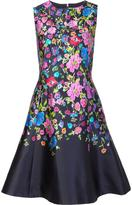 Oscar de la Renta floral print flared dress - women - Silk/Cotton - 2