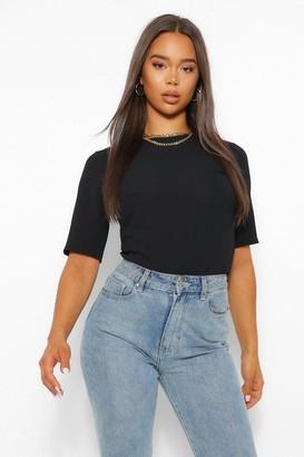 boohoo Woven Short Sleeve Open Back T-Shirt