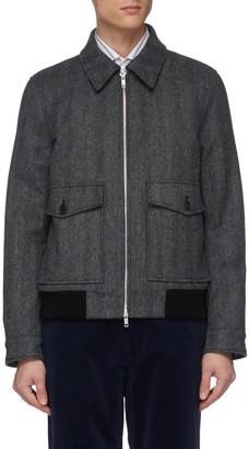 Equil Front pocket contrast hem jacket