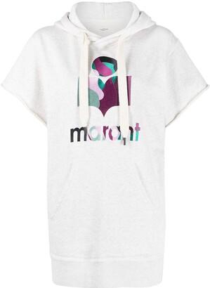 Etoile Isabel Marant Short-Sleeved Logo Hoodie