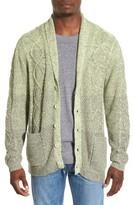 Original Paperbacks Men's 'Boston' Colorblock Mixed Knit Shawl Collar Cardigan