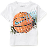 Nike Little Boys 2T-7 Basketball Line Short-Sleeve Graphic Tee