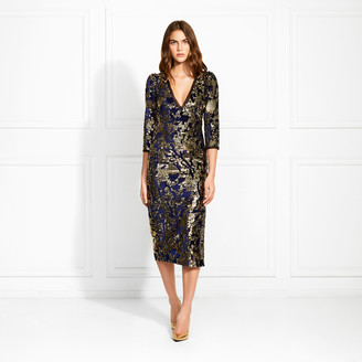 Rachel Zoe Harlem Velvet Sequined Midi Dress