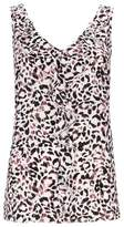 Wallis Blush Animal Print Ruffle Camisole Top