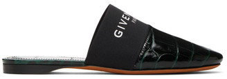 Givenchy Green Croc Bedford Mules