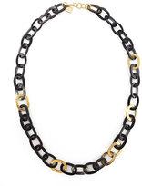 Ashley Pittman Bronze & Horn Link Mara Necklace