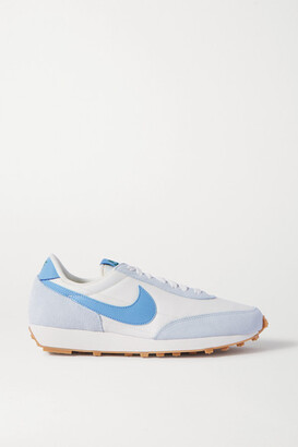 Nike Daybreak Faux Leather-trimmed Mesh And Suede Sneakers - Blue