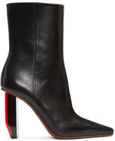 Vetements Black and Red Reflector Heel Boots
