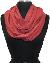Cejon Red Sequin Infinity Scarf