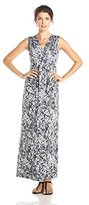Tiana B Women's Sleeveless Leopard Printed Printed Wrap Maxi Dress