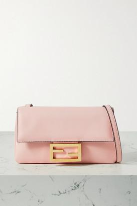 Fendi Duo Baguette Leather Shoulder Bag - Baby pink