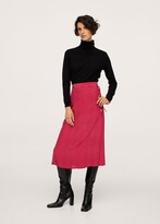 Thumbnail for your product : MANGO Polka-dot midi skirt