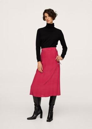 MANGO Polka-dot midi skirt
