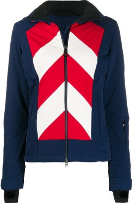 Perfect Moment Hooded Stripe Jacket