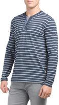 Long Sleeve Stripe Henley Shirt