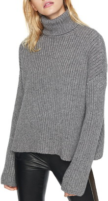 Pam & Gela Metallic Marled Turtleneck Sweater