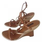 Louis Vuitton Gold Leather Sandals