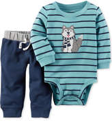 Carter's 2-Pc. Cotton Dog Bodysuit and Pants Set, Baby Boys (0-24 months)