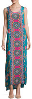 Tolani Kendall Sleeveless Floral-Print Maxi Dress, Plus Size